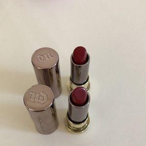 2 Urban Decay Vice Lipstick Mini (Bad Blood)